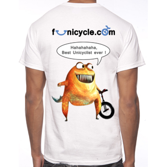 Tee-shirt de Monocycle Funicycle 2012 - Best Unicyclist ever!