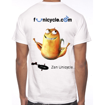 Tee-shirt de Monocycle Funicycle 2012 - Zen Unicycle...