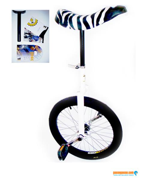 657d6b5c35d9 Monocycle Freestyle Qu-ax Blanc Luxus Club Débutant Enfant Adulte 20  Pouces 406mm